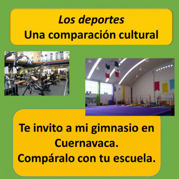 Sports and Schools / A Cultural Comparison for SP 3 and 4