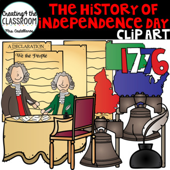 The history of Independence Day {4th of July Clip Art}
