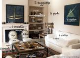 La casa: il soggiorno flash card (Italian A1/B1) (+ Digital TpT)