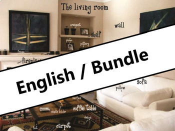 The house and household BUNDLE: Power Point presentations, flash cards & more