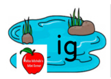 The -ig Word Family Pond Game
