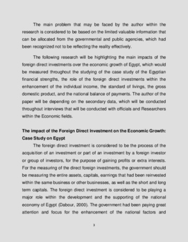 The impact of the FDI on the Economic Growth and development