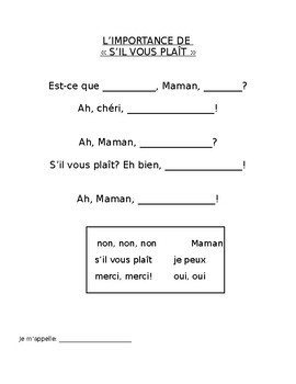 "The importance of ""please"": A fun French rhyme"