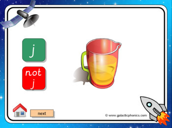 The letter 'j' PowerPoint