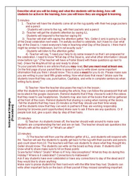 Lesson plan for teaching Day of the Dead