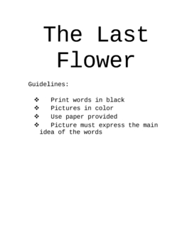 The last flower assignment