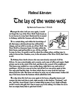The lay of the Were-wolf