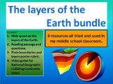 The layers of the Earth Middle school bundle