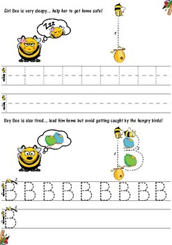 The letter Bb, phonics and writing pack (Know your ABC's series part 2)