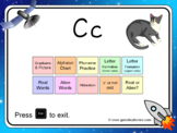 The letter 'c' PowerPoint