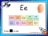 The letter 'e' PowerPoint