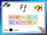 The letter 'f' PowerPoint