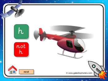 The letter 'h' PowerPoint