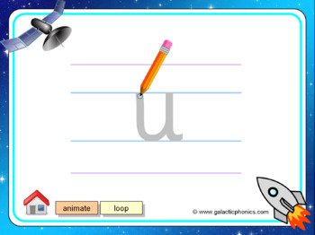 The letter 'u' PowerPoint