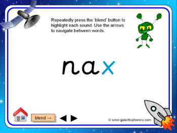 The letter 'x' PowerPoint