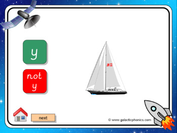 The letter 'y' PowerPoint