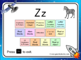 The letter 'z' PowerPoint (includes zz)