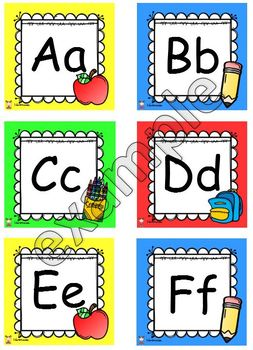The letters of the alphabet