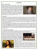 The life and work of Leonardo da Vinci - Reading Comprehension and Vocabulary
