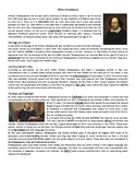 The life and work of William Shakespeare - Reading Compreh