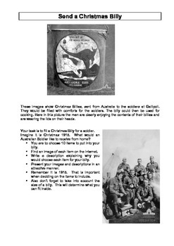 The life of a soldier in World War One student activities