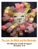 The lion the witch and the wardrobe lion art craft project