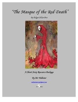 """""""The Masque of the Red Death"""" by Edgar Allan Poe - 84 Paged Short Story Package"""