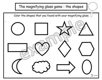 The magnifying glass game : the shapes