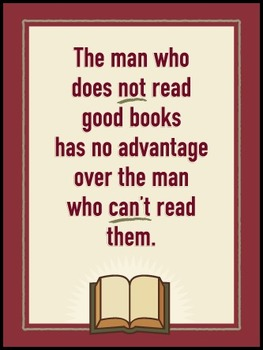 The man who does not read… POSTER
