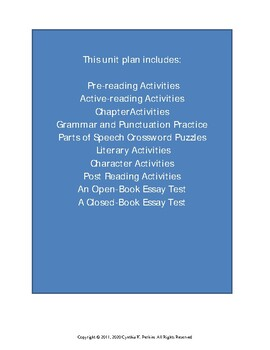 The Matchlock Gun Complete Literature and Grammar Unit