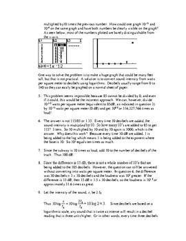 The mathematics of sound: decibels and logs