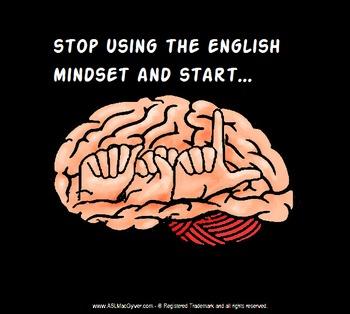 The mindset of ASL poster