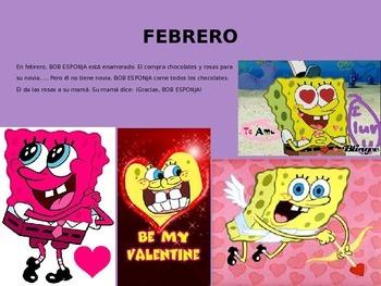The months in Spanish with Spongebob  - Los meses del ano y las fiestas TPRS