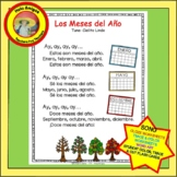 Meses, Spanish months-Song & coordinating printables, flash cards, trace & color