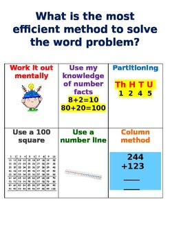 The most efficient method for solving calculations/word problems