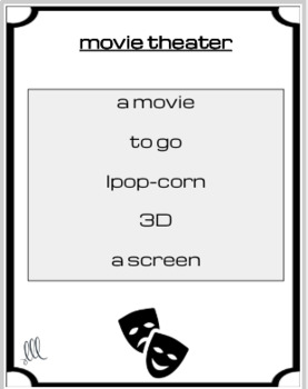 The movies - ESL - ELL Taboo Speaking Game
