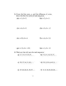 The nth term of a sequence 2