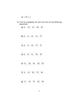 The nth term of an arithmetic sequence 2