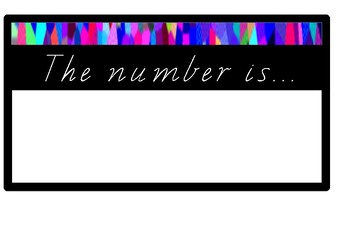 The number of the day posters