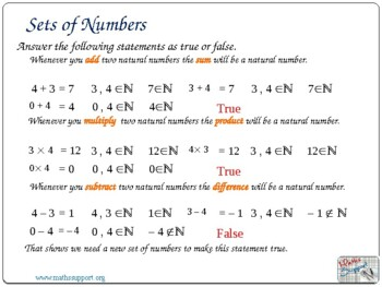 The number sets