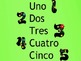 The numnbers from 1 to 5 in Spanish