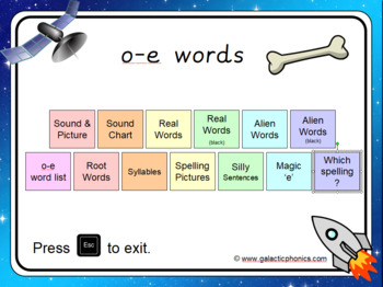 The o-e (split digraph) PowerPoint