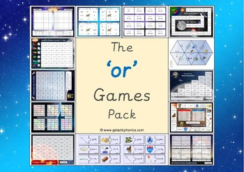 The 'or' Phonics Games Pack