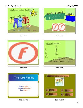 The -ore Word Family