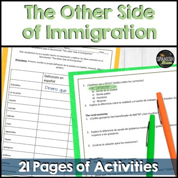 The other side of immigration- Spanish documentary (movie). Bundle
