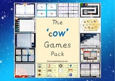 The 'ow' (as in cow) Phonics Games Pack