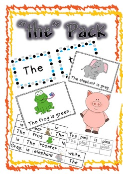 """The"" pack- high frquency words, commonly used words, oxford words"