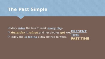 The past simple - presentation