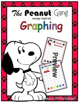 The peanut gang snoopy inspired charlie brown Graphing shapes or colors
