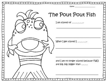 The pout pout fish worksheet